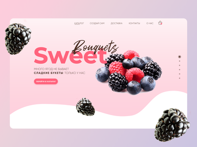 Website design for Sweet bouquets animation minimal web icon vector branding design illustration ux ui