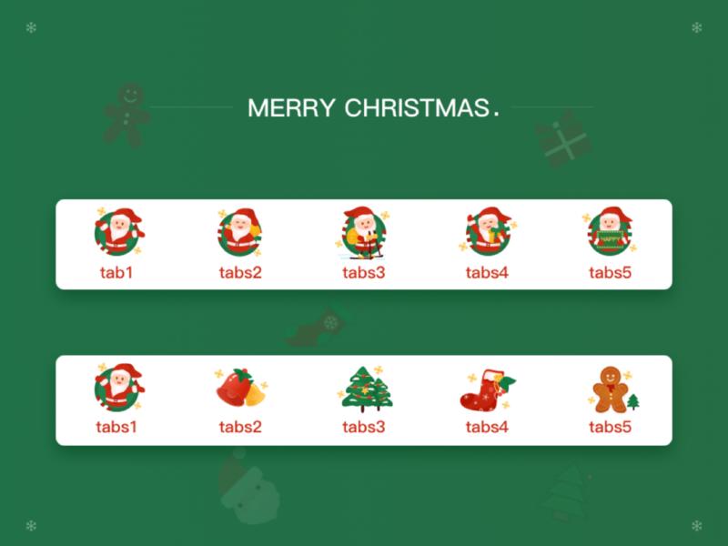 christmas design icon ui illustration