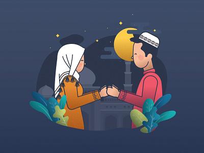 Eid Mubarak greeting eid mubarak illustration