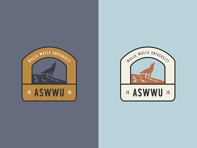 Associated Students of Walla Walla University icon logo branding vector colorful typography design flat illustration