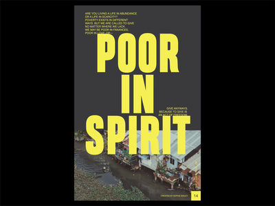 Poster a Day — 14 poster christian design poor in spirit typography layout graphic design poster a day