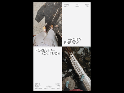 Poster a Day — 16 city forest grid layout layoutdesign graphic design create every day poster challenge poster a day