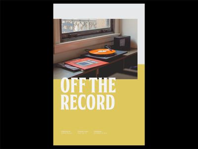 Poster a Day — 17 record typography create every day poster layout graphic design poster a day