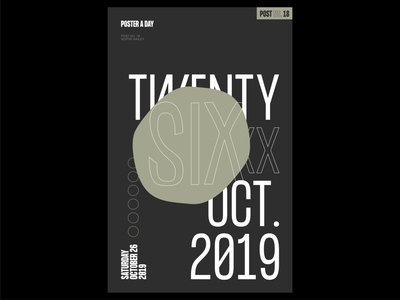 Poster a Day — 18 create every day poster layout graphic design typography poster a day