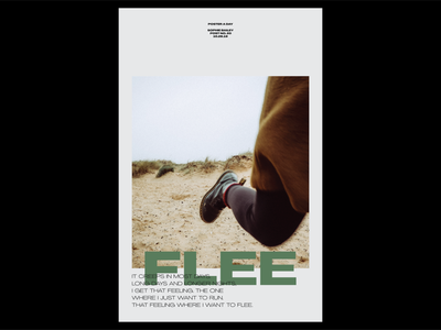 Poster a Day — 20 flee create every day typography layout graphic design poster a day