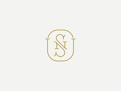 S & N final illustration elegant sn monogram branding logo design branding monogram wedding logodesign