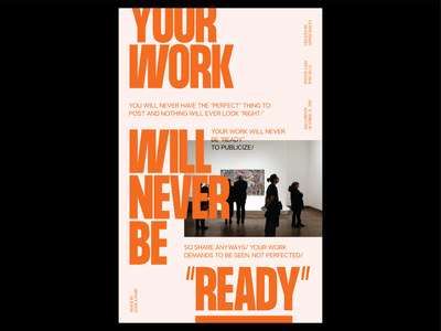 Poster a Day — 23 share every day create every day poster layout typography graphic design poster a day