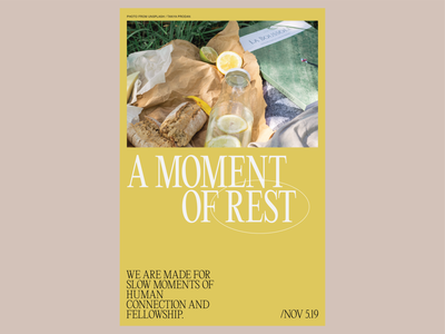 """""""Rest"""" poster create every day moder minimal rest typography graphic design layout poster design poster"""