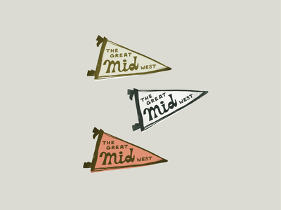 Midwest flags the great midwest pennants thedailymark vintage pins badges lettering drawing illustration flags midwest