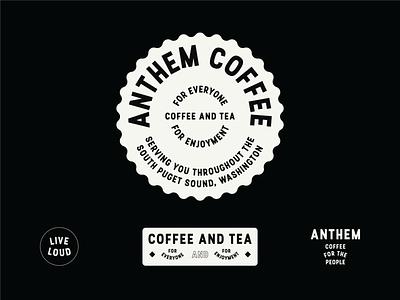 Anthem Coffee lockups label concepts logo concepts branding packaging label anthem coffee coffee lockups logo design the daily mark logo