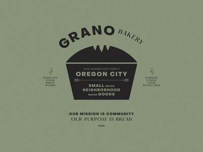 Grano Bakery concept logo create every day classic vintage baked goods local small batch rustic wheat bread grano bakery bakery logo concept concept lockups branding illustration
