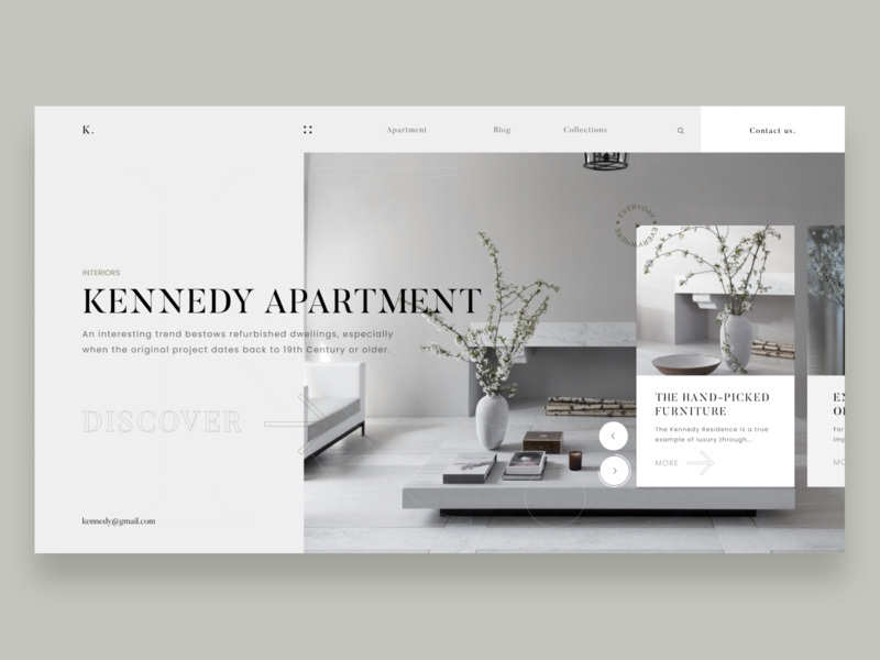 Kennedy Apartment landing architecture apartment design flower minimal simple design icon clean  creative clean branding website web ui fashion design