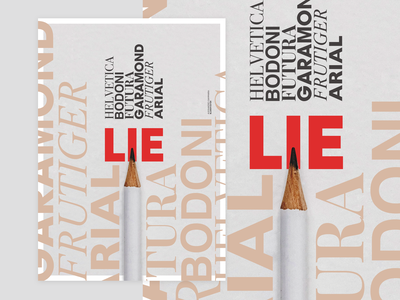 LIE: Typo poster for Blank Poster pencil poster design font design poster art poster a day red