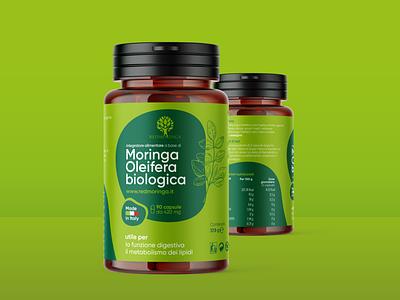 Dietary supplement label design typography minimal font branding vector illustrations lab label design graphic package design pack label
