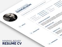 Minimal Easy Cv Resume