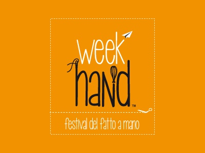 Week Hand Logo brand logodesign handmade orange logo