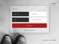 Sign up - design #001for Daily Ui
