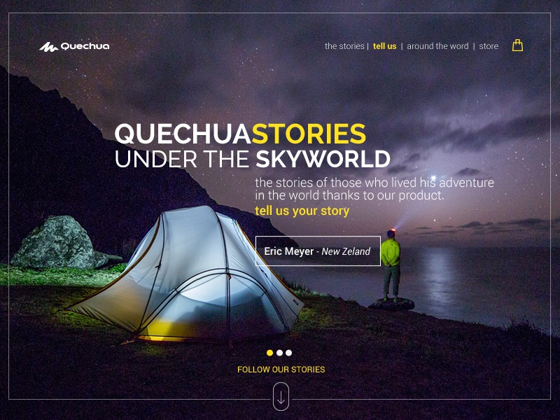Landing Page - Daily UI #3 travel landing webdesign yellow black daily ui dailyui landing page