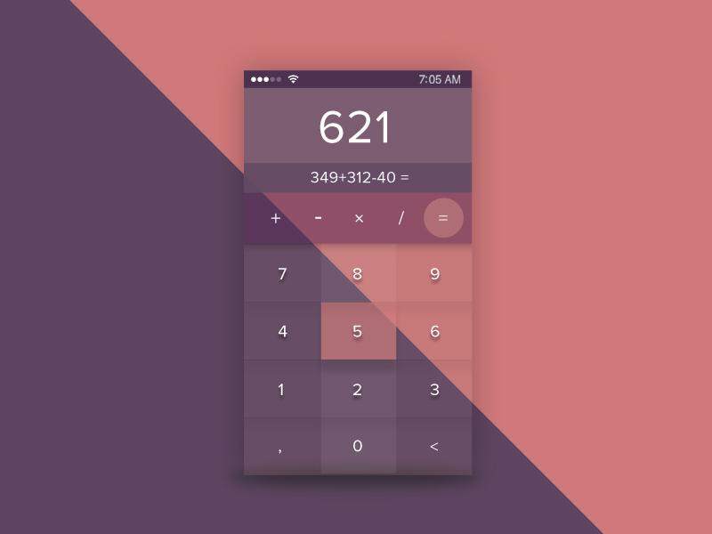 Glossy Calculator  Ui - Daily Ui 4 glossy number pad daily ui dailyui calculator