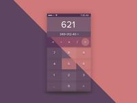 Glossy Calculator  Ui - Daily Ui 4