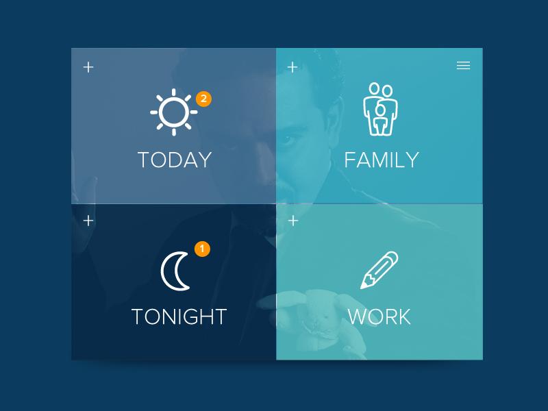 Life Settings Daily Ui 07 calendar life plan blue dailyui daily ui setting family