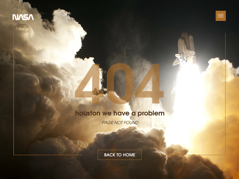 404 Houston we have a problem - Daily Ui 8 color photo error missing ui design daily ui ui page not found 404