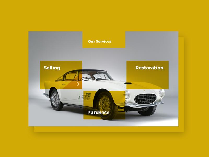 Classic Car Template classic car website orange yellow graphi design ux ui website webdesign template ui design car