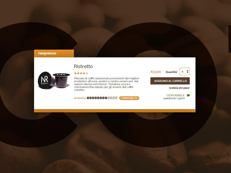 Coffee Shop Label UI Design web design ux dark brown ui label web webdesign ecommerce ui design
