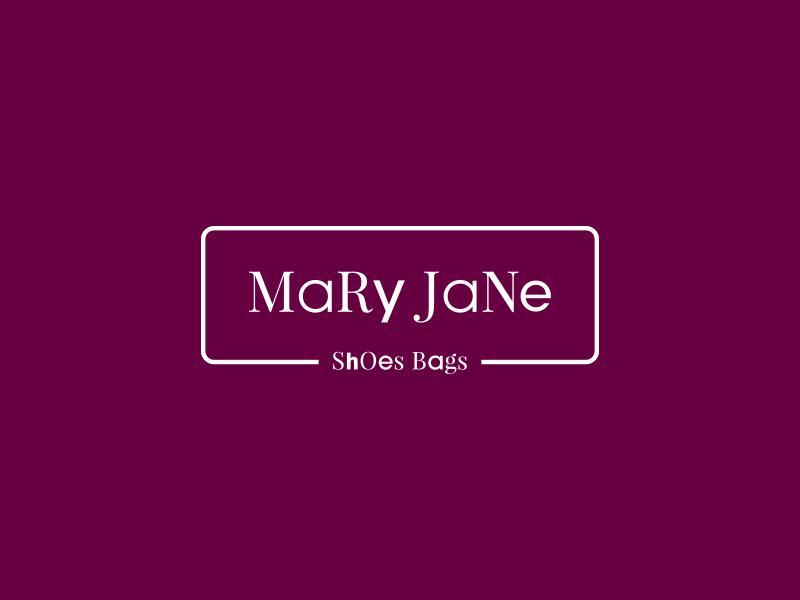 Mary Jane logodesign font typographic typo logofolio wear logo color purple brand shoes logo logo design logo