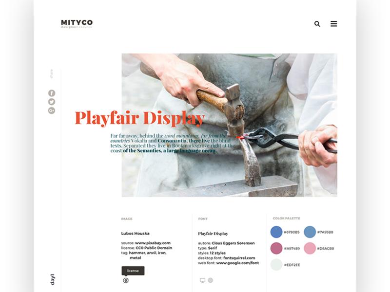 Mityco UI/UX designer resource website color font minimal ux design resource designer uidesign webdesign website ux ui