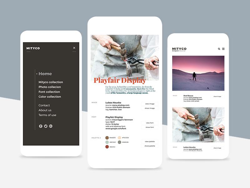 Mytico Mobile UI/UX design mockup typo website design minimal web webdesign uidesign ux ui mobile