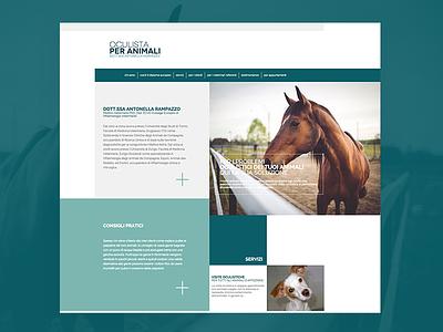 Veterinary Web Design  cat dog animal green health vet ui ux website web design