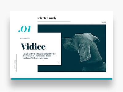 Portfolio design: single work layout preview web design webdesign font typography minimal ui design single work portfolio