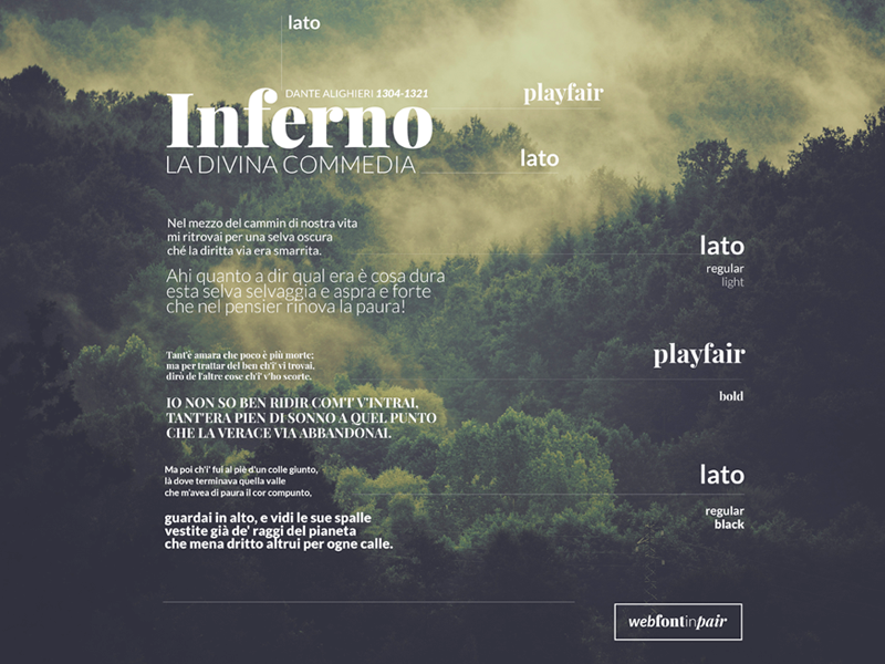 Web Font in Pair lato playfair webdesign design web design web font font ui design web webfont