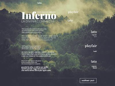 Web Font in Pair lato playfair webdesign design web design web font font ui design web webfont