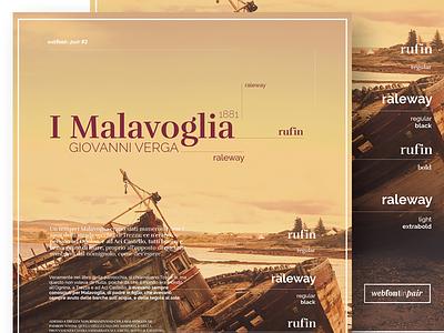 Web Font in Pair - Poster 2 raleway rufin website webdesign design web design web font font ui design web webfont