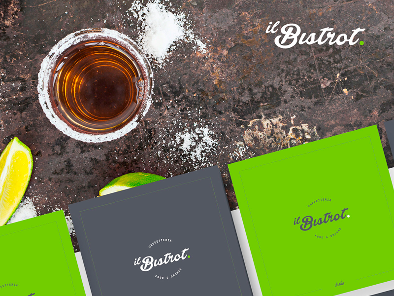 Il Bistrot: coffee and drinks  restaurant beverage food graphic design brochure menù drink coffee