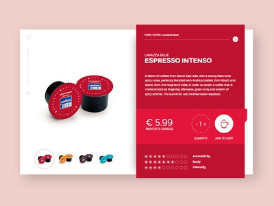 Coffee e-commerce ui product page