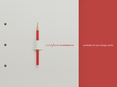 Available for freelance design job paper design red minimal webdesign portfolio graphic design ui design job freelance