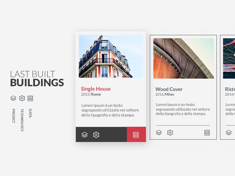 Last works interface for construction company  portfolio minimal ux website webdesign ui design ui work interface