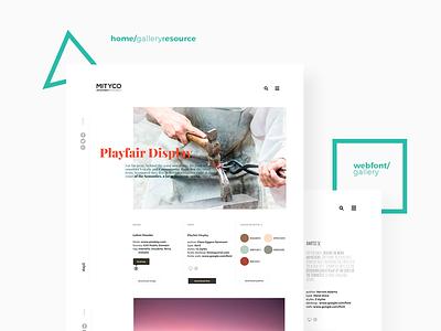 Mityco Designer Resource Ui palette color type font photo minimal ui design web design website resource designer ui