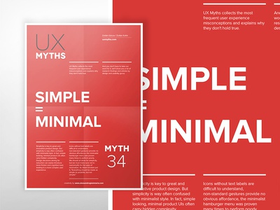 UX Myths Poster series: Simple is Minimal