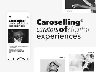Caroselling; UI Design typography black  white minimalism minimal user interface ui design ui