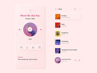 Neumorphic Playlist playlistui musicui interaction interface trends music playlist neumorphicplaylist neumorphic neumorphism