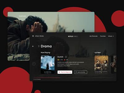 Netflix - Channels webdesign web design dark ui branding website web uidesign design ux ui