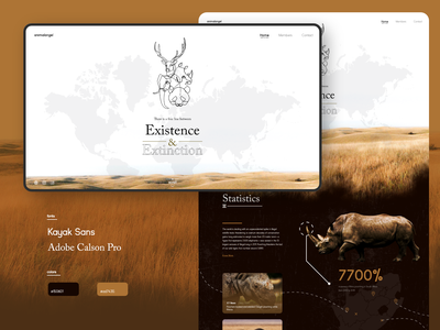 Animal Trafficking - Concept Website brown animal dark ui web design website web uidesign design ux ui