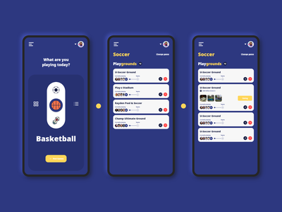 PlayDay - Street Game mobile dark ui app uidesign design ux ui