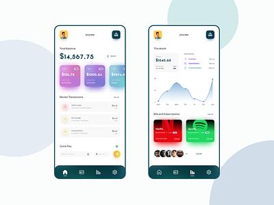 Banking App UI bank shadow mobile app branding uidesign design ux ui