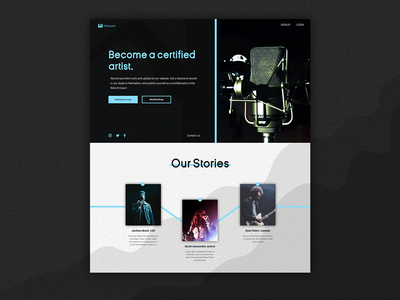 Musicyan - Landing Page branding uidesign dark ui website web ux ui design