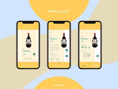 theWineyards - Online Wine Shop app mobile branding uidesign ux ui design